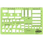"Rapidesign® Office Planner Template: 1/4"" = 1', (model 707R), price per each"