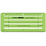 "Rapidesign® Large Lettering Aid Template: 1/4"" = 1', 1/8"", 13/16"", 5/32"", (model 924R), price per each"