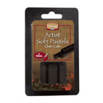 Heritage Arts™ Char-Cole Artist Soft Pastel 3-Pack: Black/Gray, Stick, Soft, (model ACC3), price per set