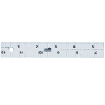 "Fairgate® 18"" Aluminum Straightedge Ruler: Metallic, Aluminum, 18"", General Purpose, (model AR701-18), price per each"