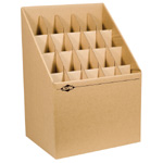 "Alvin® Upright Roll File 20 Slots: 20 Slots, Brown, Fiberboard, 12""d x 15""w x 12"" - 22""h, (model ARF20), price per each"