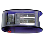 Kum® Four-Hole Long Point Pencil Sharpener: Purple, Four, Plastic, Manual, (model AS2M), price per each
