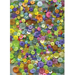 "Buttons Galore & More Button Bonanza Grab Bag Candy Store: Multi, Plastic, Round, 3/8"" - 1"", (model BB52), price per each"