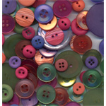 "Buttons Galore & More Button Bonanza Grab Bag Sherbet: Multi, Plastic, Round, 3/8"" - 1"", (model BB53), price per each"