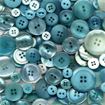 "Buttons Galore & More Button Bonanza Grab Bag Waterfall: Blue, Plastic, Round, 3/8"" - 1"", (model BB62), price per each"
