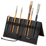 "Heritage Arts™ Brush & Tool Holder 14 1/2"" x 16"": 12 Slots, Black/Gray, Nylon, 12 3/4"" x 13 1/2"", 14 1/2"" x 16"", Brush and Tool Holder"