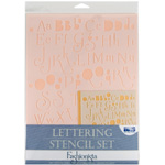 "Blue Hills Studio™ Lettering Stencil Set Fashionista: 1"", 3/8"", Lettering, (model BHS101SET), price per set"