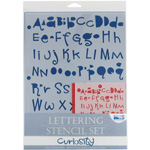 "Blue Hills Studio™ Lettering Stencil Set Curiosity: 1"", 3/8"", Lettering, (model BHS103SET), price per set"
