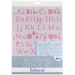 "Blue Hills Studio™ Lettering Stencil Set Editorial: 1"", 3/8"", Lettering, (model BHS105SET), price per set"