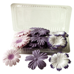 "Blue Hills Studio™ Irene's Garden™ Box O'Blooms Flower Pack Purple/Plum: Purple, Paper, 2""+, Dimensional, (model BHS10755), price per pack"