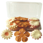 "Blue Hills Studio™ Irene's Garden™ Box O'Blooms Flower Pack Orange/Peach: Orange, Paper, 2""+, Dimensional, (model BHS10756), price per pack"