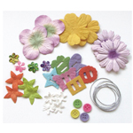 Blue Hills Studio™ Irene's Garden™ Potpourri Paper Flower & Embellishment Pack Rainbow: Multi, Paper, 20 mm, 30 mm, 50 mm - 52 mm, Dimensional, (model BHS32), price per pack