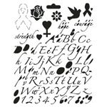 "Blue Hills Studio™ Breast Cancer Awareness Lettering Template: 7 1/2"" x 9 1/2"", Lettering, (model BHSHOPET), price per each"