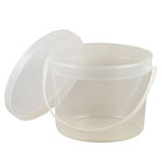 Generic Empty Display Bucket with Lid: Clear, Bucket, (model BUCKETMT), price per each