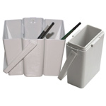 "Heritage Arts™ Detachable Plastic Brush Washer: White/Ivory, Plastic, 3""d x 4 1/4""w x 3 1/4""h, Brush Washer, (model BWB12), price per each"