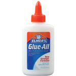 Elmer's® Glue-All® Multi-Purpose Liquid Glue 4oz: Bottle, 4 oz, All Purpose