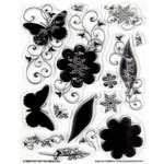 "Hot Off the Press Clear Acrylic Stamp Set Silhos & Shadows: Acrylic, No, 5 1/2"" x 7"", (model HOTP1026), price per each"