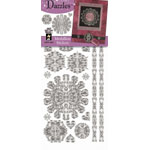 "Dazzles™ Stickers Silver Medallion: Metallic, 4"" x 9"", Outline, (model HOTP1851), price per each"