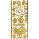 Dazzles Stickers Hey Cupcake Gold