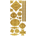 "Dazzles™ Stickers Celtic Gold: Metallic, 4"" x 9"", Outline, (model HOTP2031), price per each"
