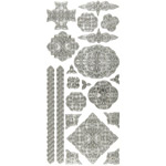 "Dazzles™ Stickers Celtic Silver: Metallic, 4"" x 9"", Outline, (model HOTP2032), price per each"