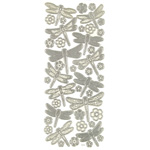 "Dazzles™ 3-D Dragonflies Silver: Metallic, 4"" x 9"", Dimensional, (model HOTP2081), price per each"