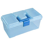 "Heritage Arts™ Art Tool Box: Blue, Plastic, 7 1/2""d x 15""w x 7""h, (model HPB1008), price per each"