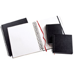 "Heritage Arts™ Wirebound Sketchbook 5 x 7: Wire Bound, White/Ivory, Book, 110 Sheets, 5"" x 7"", 70 lb"