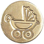 Manuscript Decorative Wax Sealing Coin Pram: Round, 15 mm, (model MSH727PRM), price per each