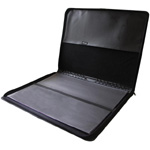 "Prestige™ Premier™ Black Series Leather Presentation Case 8.5"" x 11"": Black/Gray, Leather, 8 1/2"" x 11"", (model PCL811), price per each"