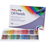 Pentel® Oil Pastel 50-Color Set: Multi, Stick, Oil, (model PHN50), price per set