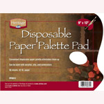 "Heritage Arts™ Disposable White Paper Palette Pad 9"" x 12"": Pad, 50 Sheets, 9"" x 12"", 42 lb"