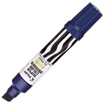 Pilot®  Super Color Jumbo Blue Permanent Marker: Blue, Refillable, Chisel Nib, (model SC6600-B), price per each