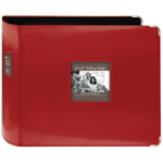 "Pioneer® 12 x 12 xL D-Ring Leatherette Scrapbook Binder Red: Red/Pink, Leatherette, 12"" x 12"", (model T12JF/RD), price per each"