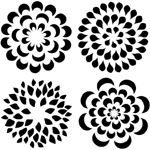 "The Crafter's Workshop 12"" x 12"" Design Template Mums: 12"" x 12"", Patterned Stencil, (model TCW173), price per each"