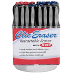 Pentel® Clic Eraser® Retractable Eraser Display: Manual, (model ZE22-5D), price per each