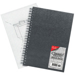 "Cachet® 5 x 7 Classic Graph Sketch Book: Wire Bound, Book, 4"" x 4"", 80 Sheets, 5"" x 7"", 70 lb"