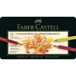 Faber-Castell Polychromos Artists Colour Pencil: Tin of 12