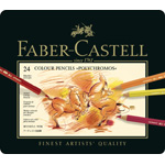 Faber-Castell Polychromos Artists Colour Pencil: Tin of 24