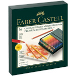 Faber-Castell Polychromos Artists Colour Pencil: Studio Box of 36