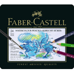 Faber-Castell Albrecht Durer Artists' Watercolour Pencil: Tin of 24