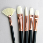 Bodarevsky Set of 5 Hog Bristle Art Brushes