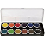Finetec Watercolor Paint Transparent 12-Color Set: Multi, Pan, Watercolor