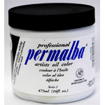 Original Permalba White Oil Color: 473 ml, Jar