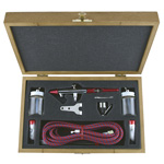 Paasche Millennium Airbrush Set with Deluxe Wood Carrying Case