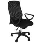 Martin Comfort Mesh Executive Desk Chair Black: Model # 91-02209115