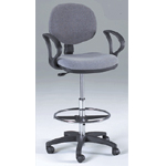 Martin Stanford Drafting Height Seating Chair: Black