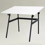 "Martin Berkeley Classic Black Base with White 30"" x 42"" C Top: Model # U-DS1440C"