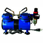 Paasche Model DA400R Air Compressor (1/4 hp.) with Auto Shutoff & Regulator