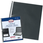 "Prestige™ Archival Protective Sleeve 8 1/2"" x 11"": Black/Gray, Polypropylene, 8 1/2"" x 11"", (model RF11), price per pack"